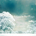 Dreamy Surreal Ethereal Infrared Inspirational Nature Photography - Believe In The Magic Poster by Kathy Fornal