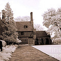 Dreamy Surreal Infrared Meadowbrook Mansion Poster by Kathy Fornal