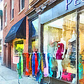 Dress Shop Hoboken NJ Print by Susan Savad