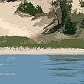 Dunes of Lake Michigan Poster by Michelle Calkins