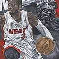Dwyane Wade Print by David Courson