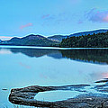 Eagle Lake Maine - Panoramic view Poster by Thomas Schoeller