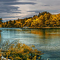 Early Autumn Along the Androscoggin River Print by Bob Orsillo