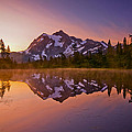 Early Morning at Picture Lake Print by Darren  White