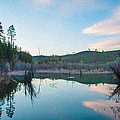 Early Sunset on a Beaver Pond  Poster by Omaste Witkowski