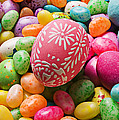 Easter egg and jellybeans  Print by Garry Gay