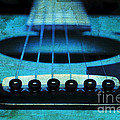 Edgy Abstract Eclectic Guitar 16 Print by Andee Photography