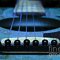 Edgy Abstract Eclectic Guitar 17 Print by Andee Design