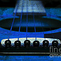 Edgy Abstract Eclectic Guitar 18 Print by Andee Photography