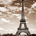 Eiffel tower in sepia Poster by Elena Elisseeva