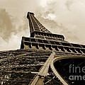 Eiffel Tower Paris France Black and White Print by Patricia Awapara