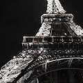 Eiffel Tower Paris France Night lights Print by Patricia Awapara