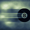 Eight Ball In Motion Poster by Bob Orsillo