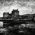 Eilean Donan castle in Scotland BW Poster by RicardMN Photography