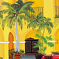 El Convento in Old San Juan Print by Gloria E Barreto-Rodriguez