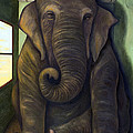 Elephant In The Room Print by Leah Saulnier The Painting Maniac