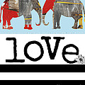 Elephant Love Typography  Poster by Anahi DeCanio