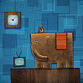 Elephant on the Wall Poster by Gianfranco Weiss