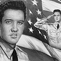 Elvis Patriot bw signed Print by Andrew Read
