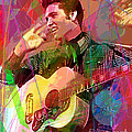 Elvis Rockabilly  Poster by David Lloyd Glover