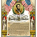 EMANCIPATION PROCLAMATION TRIBUTE 1888 Print by Daniel Hagerman