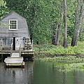 Emerson Boathouse Concord Massachusetts Print by Amy Porter