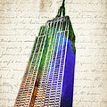 Empire State Building Print by Aged Pixel
