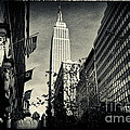 Empire State Building and Macys in New York City Print by Sabine Jacobs