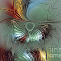 Enchanting Flower Bloom-Abstract Fractal Art Poster by Carlita Cooly