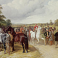 English Horse Fair on Southborough Common Poster by John Frederick Herring Snr
