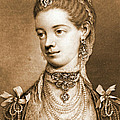English Queen Charlotte 1762 Print by Padre Art