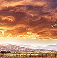 Epic Colorado Country Sunset Landscape Panorama Print by James BO  Insogna