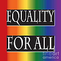 Equality Rainbow Poster by Jamie Lynn