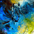 EQUUS BLUE GHOST Poster by Marcia Baldwin