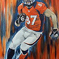 Eric Decker Print by Don Medina