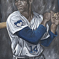 Ernie Banks Print by David Courson