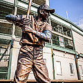 Ernie Banks Statue at Wrigley Field  Print by Paul Velgos