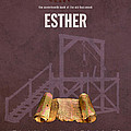 Esther Books Of The Bible Series Old Testament Minimal Poster Art Number 17 Print by Design Turnpike
