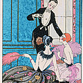 'Europe' illustration for a calendar for 1921 Print by Georges Barbier