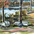 Evening Shadows at Shepherd Mountain Lake  No W101 Print by Kip DeVore