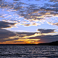 Evening Sky over Lake Print by Olivier Le Queinec