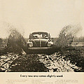 Every New One Comes Slightly Used - Vintage Volkswagen Advert Poster by Nomad Art And  Design