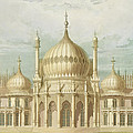 Exterior of the Saloon from Views of the Royal Pavilion Print by John Nash