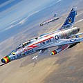 F-100D Sharpening the Sabre Poster by Stu Shepherd