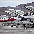 F-16c Thunderbirds On The Ramp Poster by Terry Moore