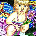 Fairy Child Print by Judy Moon