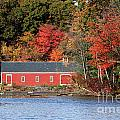 Fall at the Mill Print by Jayne Carney