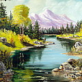 Fall In The Rockies Print by Lee Piper