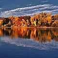 Fall on the Mississippi river Print by Todd and candice Dailey