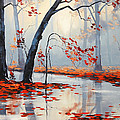 Fall River Painting Print by Graham Gercken